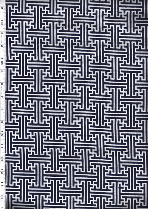 Yukata Fabric - 138 - Interlocking Bars