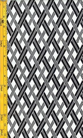 Yukata Fabric - 001 - Lattice - White