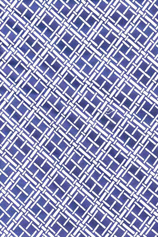 Yukata Fabric - 005 - Diagonal  Basketweave Squares - Medium to Darker Blue - Not Indigo