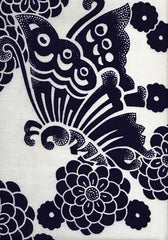 Yukata Fabric - 076 - Large Butterfly & Mums
