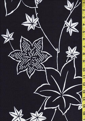 Yukata Fabric - 007 - Maple Leaves