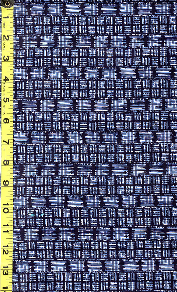 Yukata Fabric - 509 - Compact Interlocking Square Mesh - Blue & Dark Navy