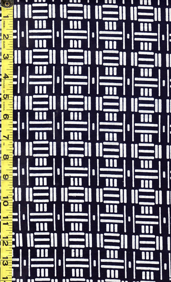 Yukata Fabric - 511 - Rectangle Domino Bars - Dark Indigo