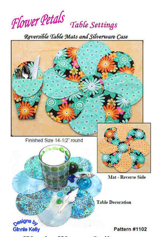 Placemat Pattern - Flower Petals Table Settings