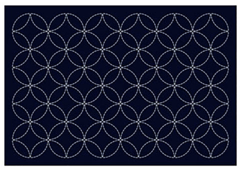 Sashiko Placemat Sampler - L-2001 - Navy - Seven Treasures