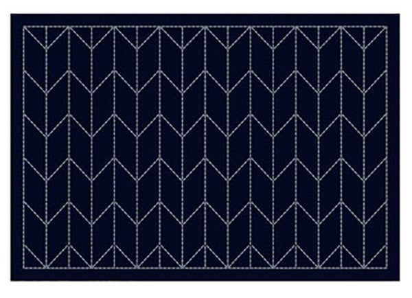 Sashiko Placemat Sampler - L-2002 - Navy - Arrows