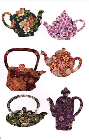 Fabric Fun Shapes - Asian Teapots