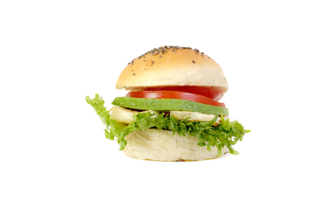 Mini vegetarisk hamburgare