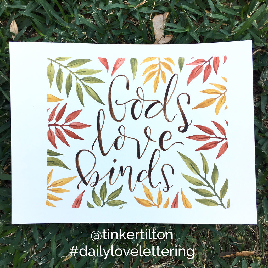 Day 14 of 30:  Gods love binds.