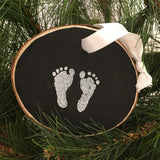 Baby Feet (white on black)