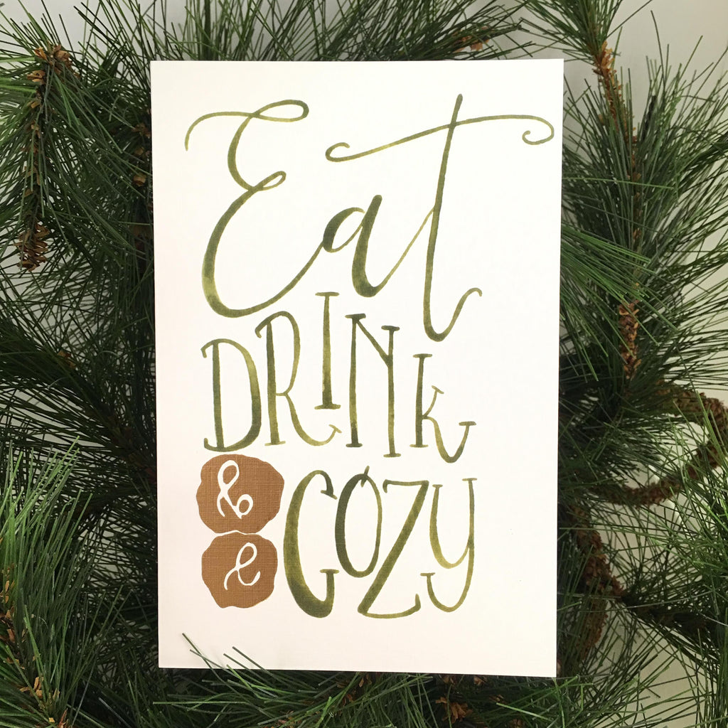 Eat Drink be Cozy, Single Card