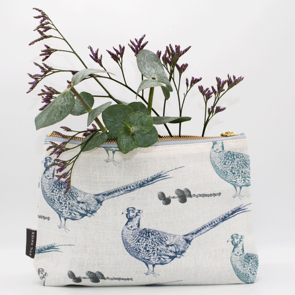 Pheasant Cosmetic and Wash Bags