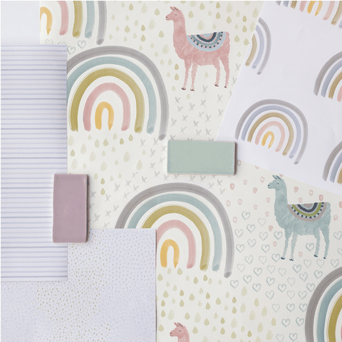 Stil Haven rainbow wallpaper collection