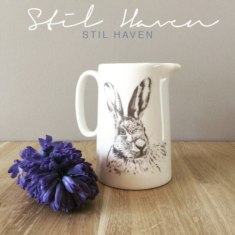 stil haven fine bone china hare rabbit bunny jug