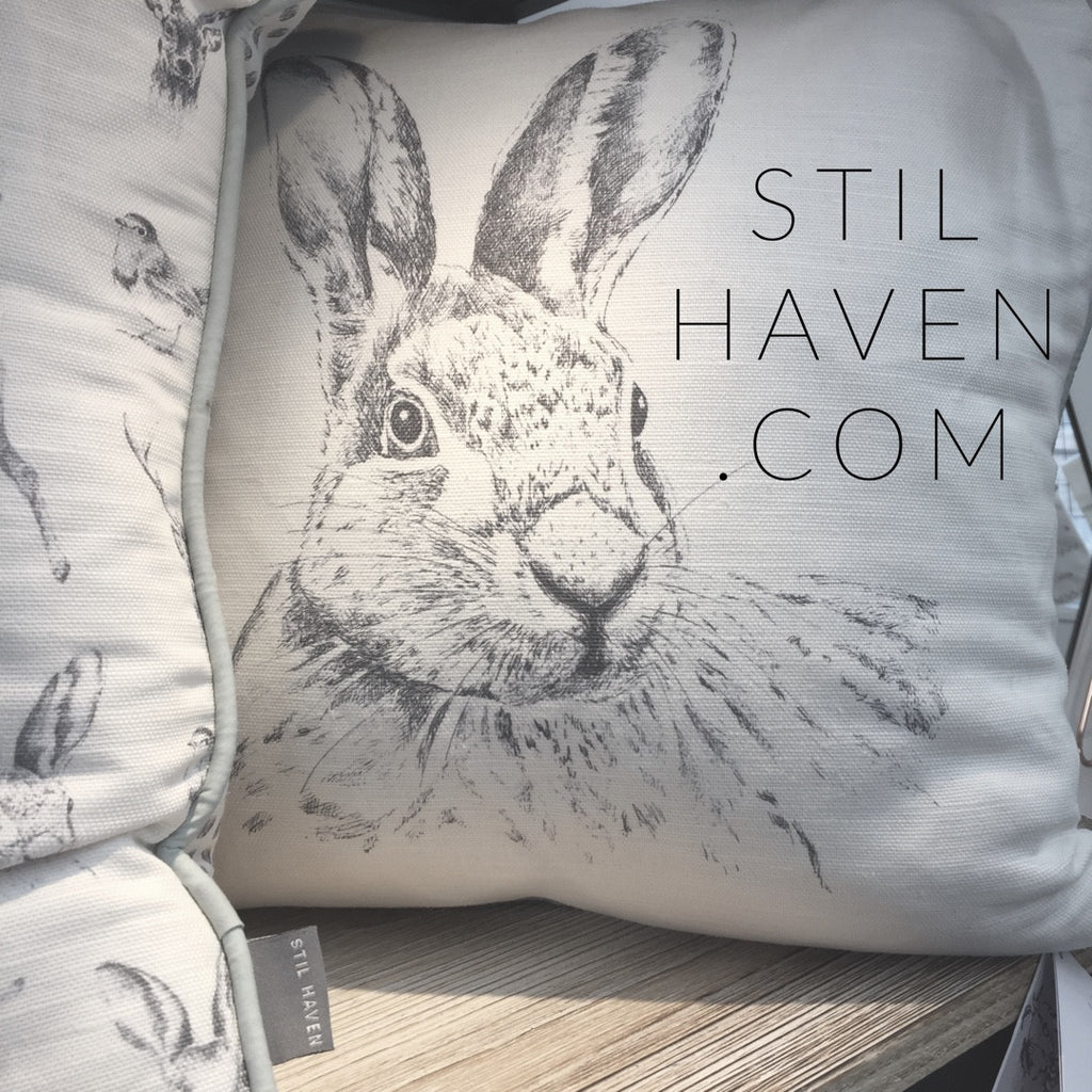 rabbit gift for mother's day hare cushion for easter decor - stil haven