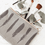 Stil Haven Feather Print Cosmetic Bag