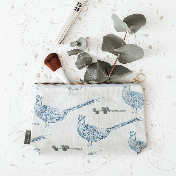 Stil Haven Pheasant Bird Print Makeup Bag