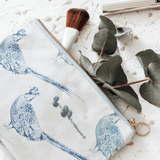 Stil Haven Pheasant Bird Print Make Up Bag
