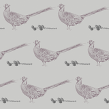 grey lilac pheasant pinecone country home non woven wallpaper - stil haven