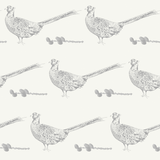 grey neutral pheasant pinecone country home non woven wallpaper - stil haven