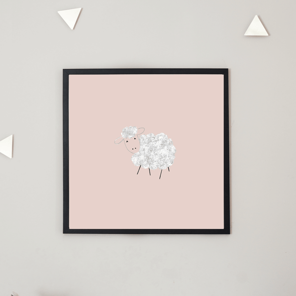 Sheep Print Wall Art