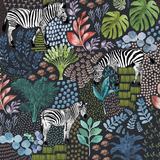 zebra safari print wallpaper for nursery