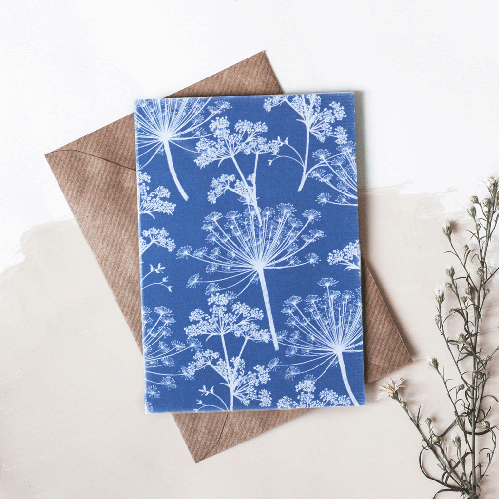 Stil Haven cow parsley greeting card