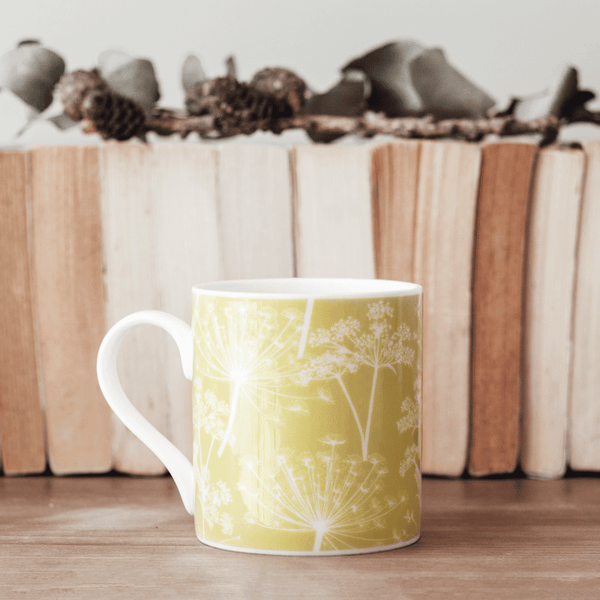 Stil Haven cow parsley mug yellow citrine