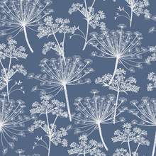 Stil Haven Non Woven Blue Cow Parsley Wallpaper