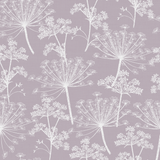 Stil Haven Non Woven Lilac Cow Parsley Wallpaper