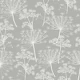 Stil Haven Non Woven Grey Cow Parsley Wallpaper