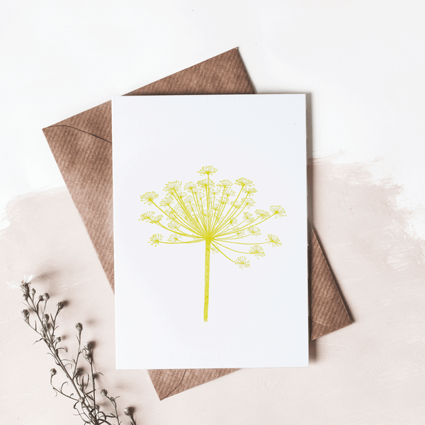 dandelion seed greeting card - stil haven