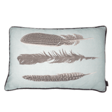 feather cushion powder blue - stil haven