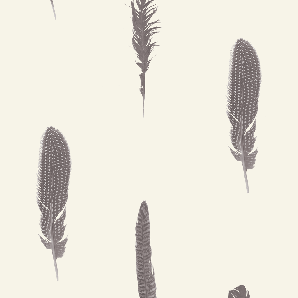 Stil Haven Non Woven Cream Feather Print Wallpaper