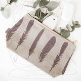 Stil Haven feather wash bag toiletry bag