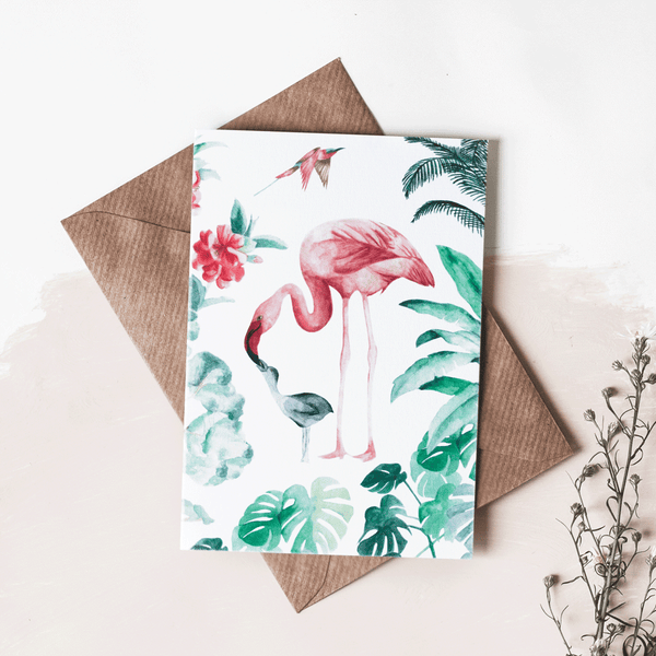 Stil Haven flamingo greeting card