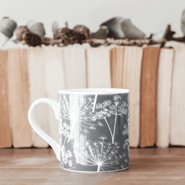 Stil Haven grey cow parsley fine bone china mug.png