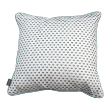 grey polka dot country home cushion - stil haven