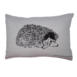 british hedgehog cushion, hedgehog design pillow, hedgehog gifts, made in uk - stil haven