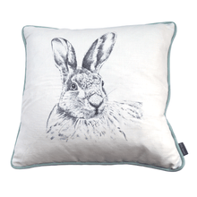 hare rabbit grey white cushion country home cushion - stil haven
