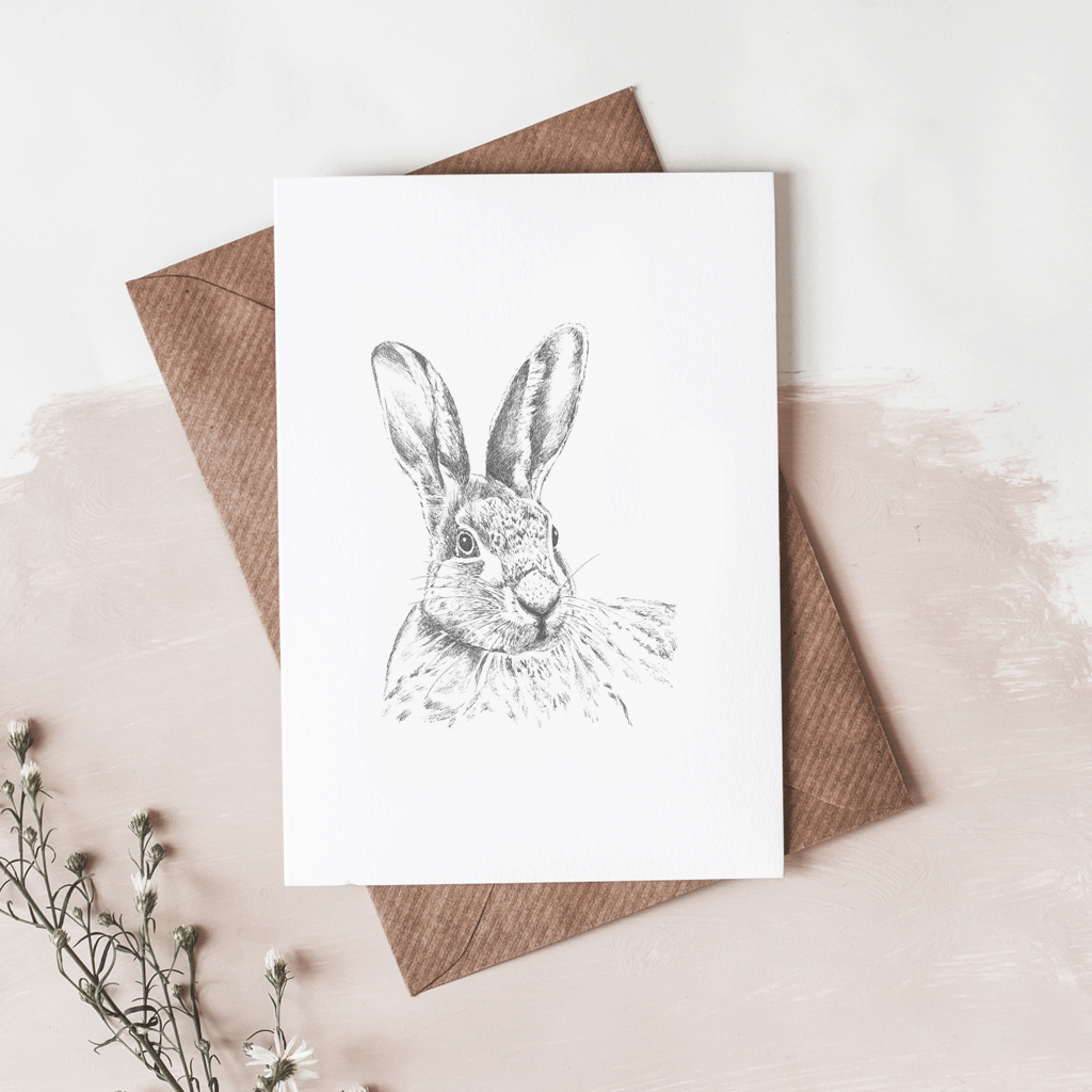 Stil Haven hare greeting card