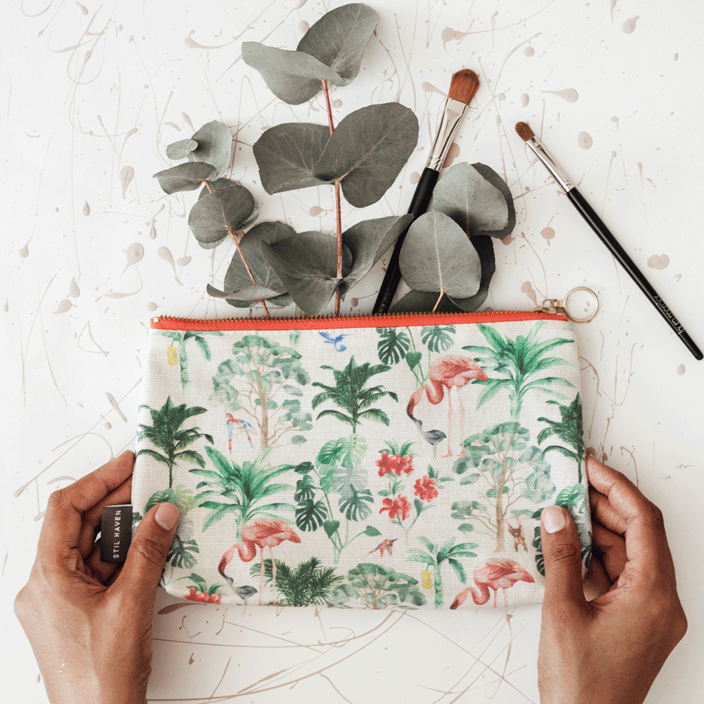 Stil Haven nova tropical cosmetic bag