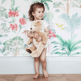 Stil Haven nova tropical flamingo wallpaper for nursery