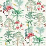 nova tropical print flamingo wallpaper for kids room