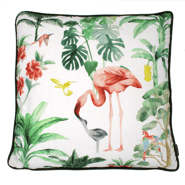 Nova tropical flamingo cushion - stil haven