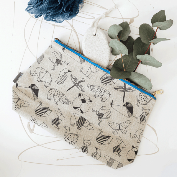 Stil Haven origami animals large washbag