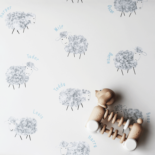 Stil Haven personalised nursery sheep wallpaper cream - stil haven