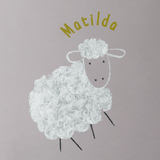Stil Haven personalised sheep wallpaper pink nursery