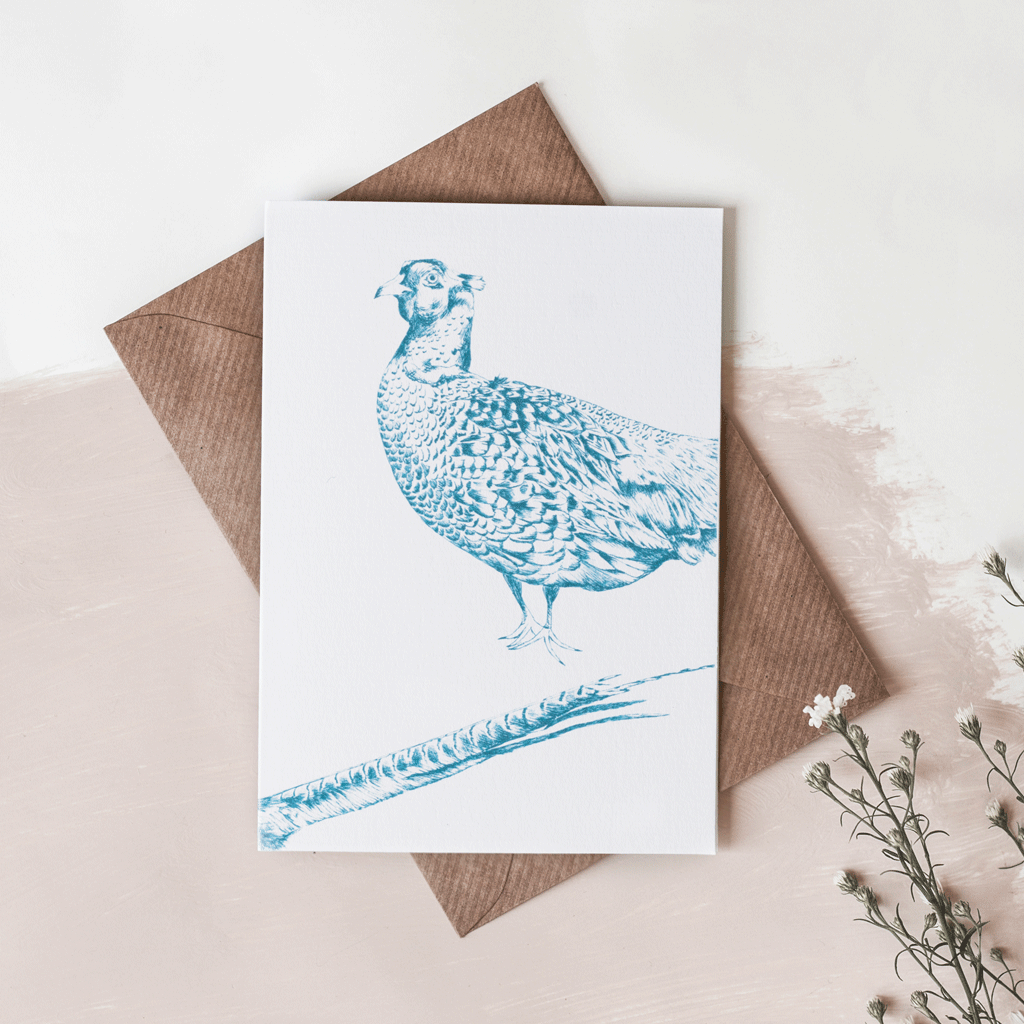 stil haven pheasant greeting card