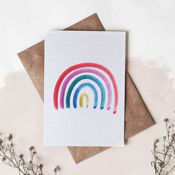 rainbow greeting card - stil haven